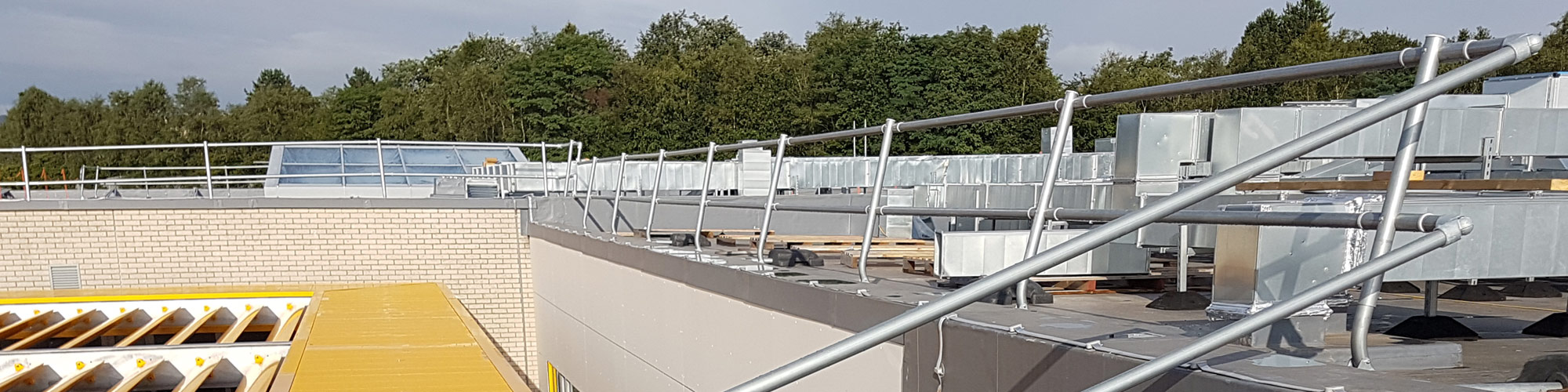 Pentrehafod School Roof Guardrail Project